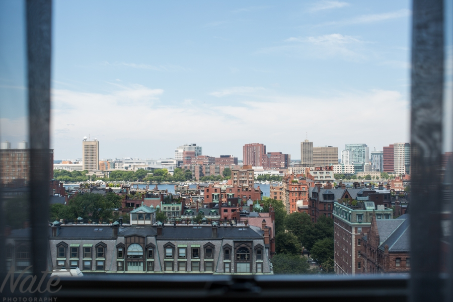 view from Lenox hotel boston