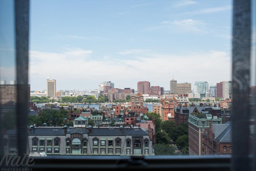 view from Lenox hotel boston