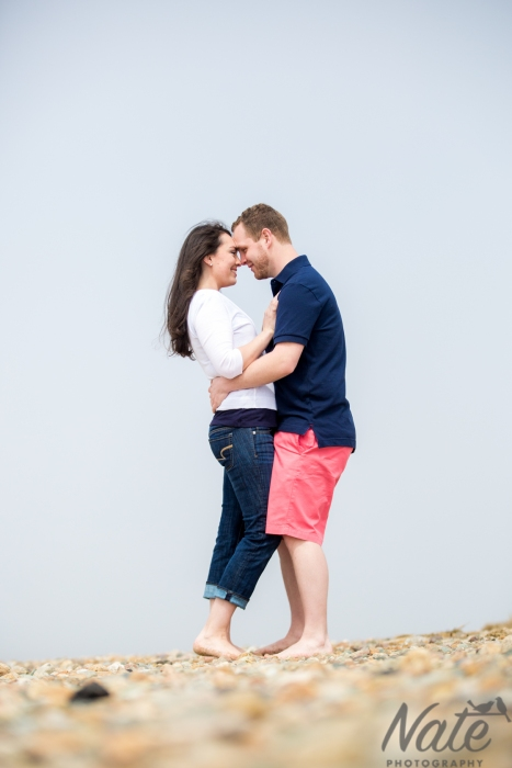 Duxbury Beach engagement session photos by Nate Photography