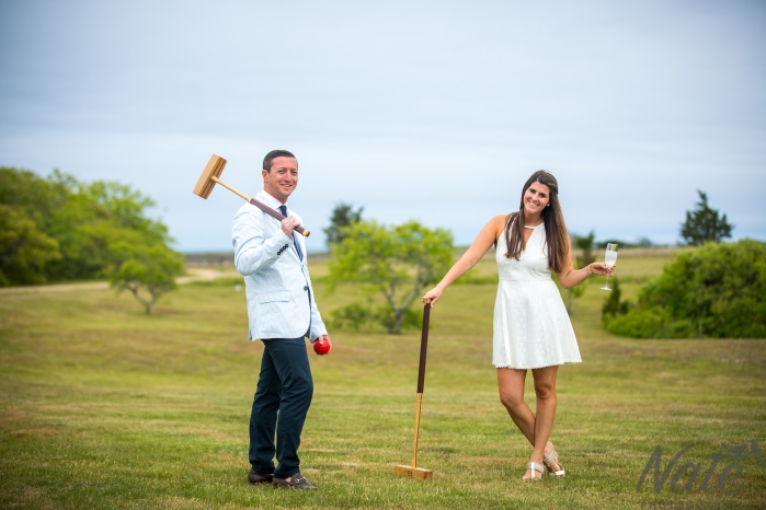 William and Juliet are married on Pohogonot Farm Martha's Vineyard. Photos by Nate Photography