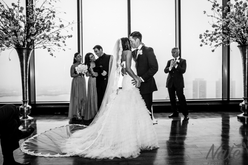 Lindsay and Steven are married at the State Room, Boston. Photos By Nate Photography