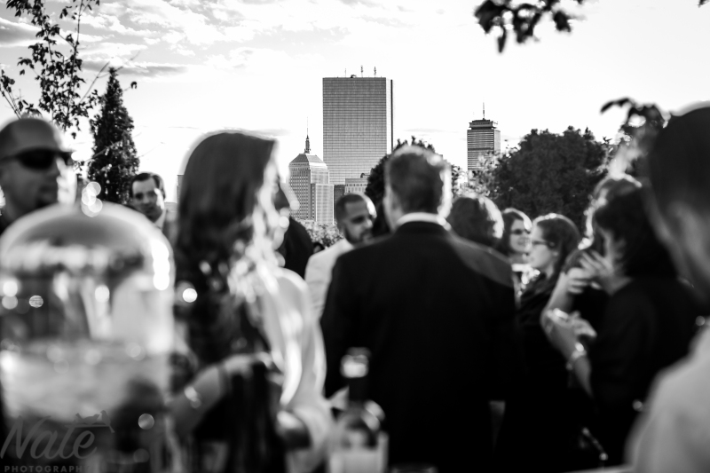 Yvonne and Matt are married at Mooo Boston, with ceremony on roof of 15 Beacon Hotel.Photos by Nate Photography