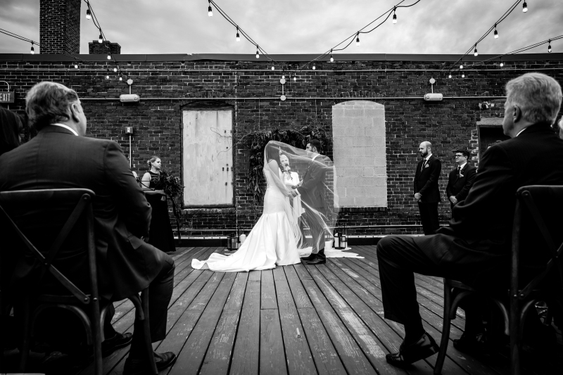Jenn and Chad are married at Coppersmith Boston. Photos by Nate photography