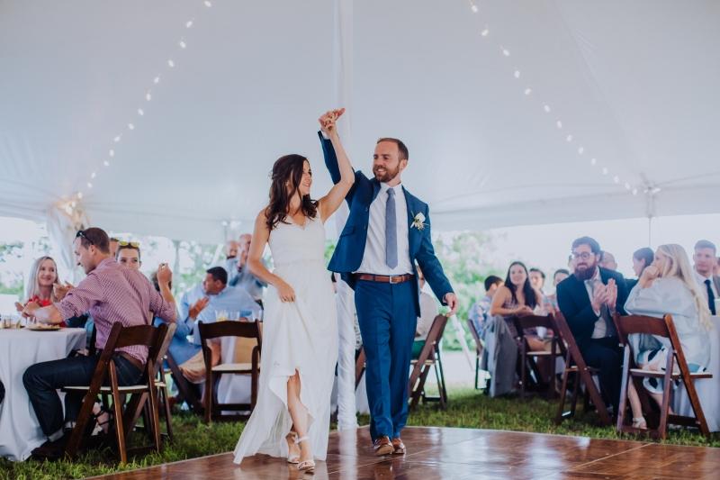 Nate Photography, Beach Wedding, Marblehead, Massachusetts, Second line